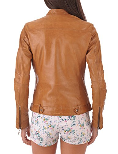 Leather Market Women's 100% Lambskin Leather Bomber Biker Jacket outfit