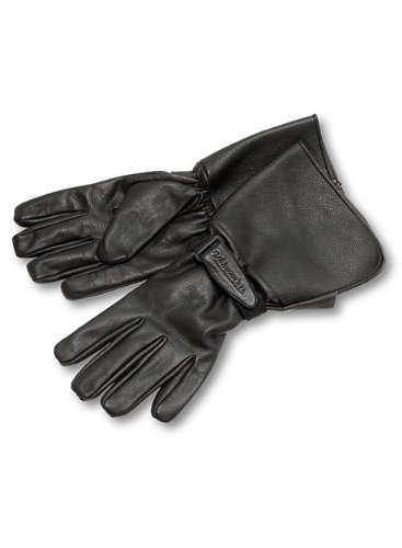 Milwaukee Motorcycle Clothing Company Men's Leather Gauntlet Riding Gloves
