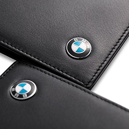 BMW Bifold Driver License Holder with a Front Card Slot – Genuine Leather