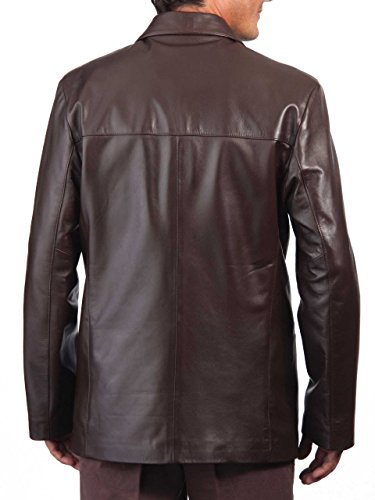 Royal Outfit Genuine Lambskin Leather Casual Blazer Coat – Brown