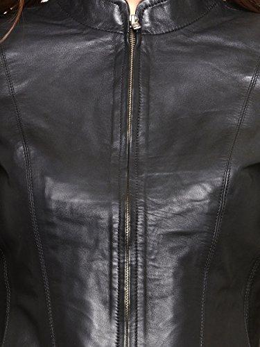 Teesort Genuine Sheepskin Leather Women's Jacket-Black