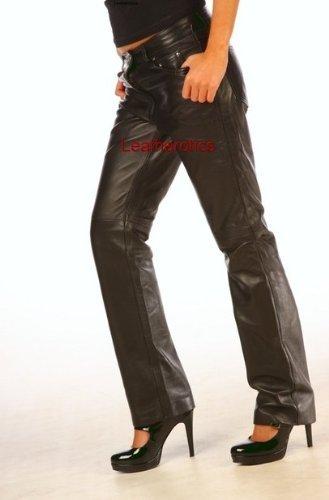 Genuine Skinny Leather Pants Women'S Jeans Trousers WJR