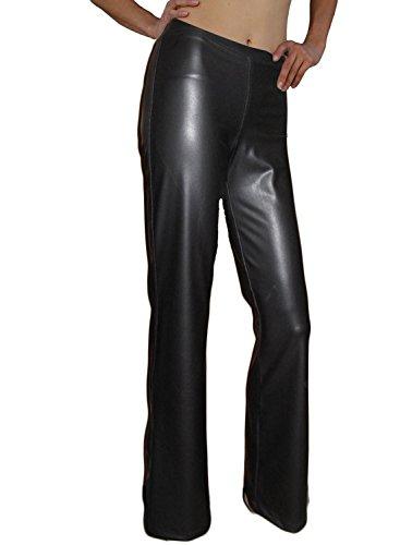 Ooh la la Unskinny Boot Cut Full Length Faux Leather Stretch Pleather Pant