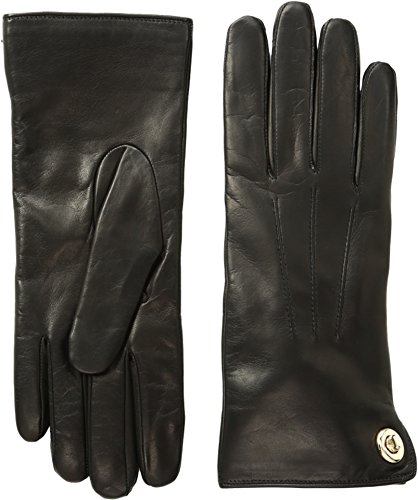 COACH Women's Iconic Leather Gloves Black Gloves
