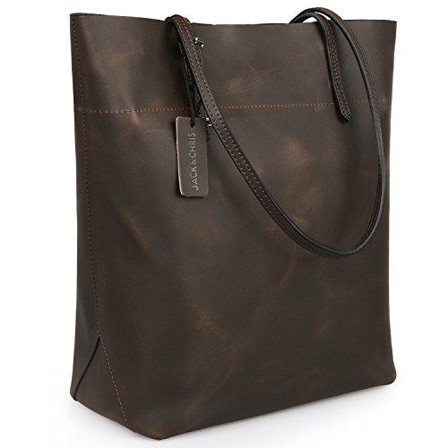 Jack&ChrisPerfect Ladies' Genuine Leather Tote Bag Handbag Shoulder Bag,YSZ112