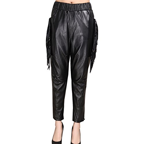 Humiture Genuine Lambskin Leather Trouser for Women 5530