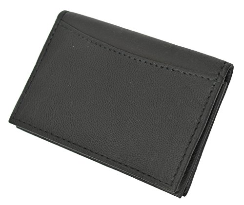 Marshal® RFID Blocking Mens Leather Expandable Business Card Case Wallet