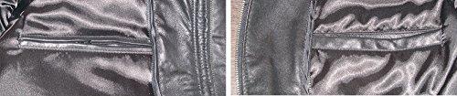 Paccilo Mens 1021 Genuine Three Button Lambskin Leather Blazer