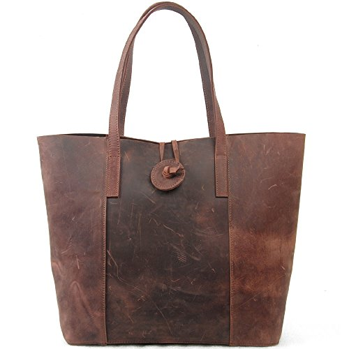 Jack&Chris New Vintage Cow Leather Handbag, Tote Bag, MC506