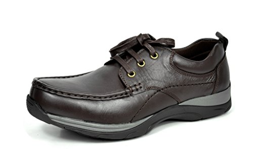Bruno MARC MODA ITALY Men's Classic Leather Lace Up Driving Casual Moccasins Oxfords shoes
