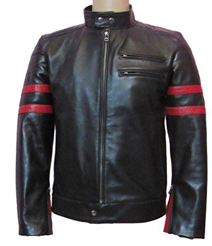 Paradigm men's black genuine lambskin leather stylish jacket SL767