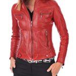 Silversoft Women's Lambskin Leather Bomber Biker Jacket