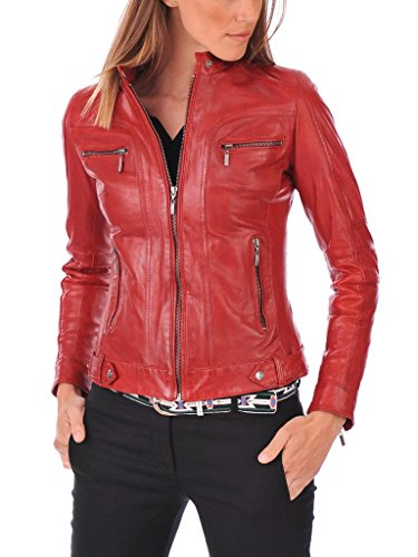 Silversoft Women's Lambskin Leather Bomber Biker Jacket