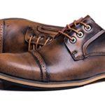 JiYe Mens Genuine Leather Oxfords Shoes