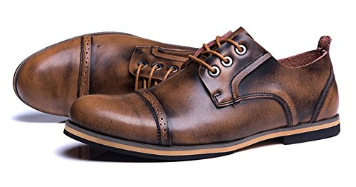 JiYe Mens Genuine Leather Oxfords Shoes