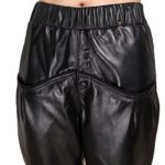 Humiture Lady's Leather Pants genuine Sheepskin Leather Trousers 5527