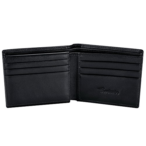 Travelambo Genuine Leather RFID Blocking Wallets Mens Wallet Bifold