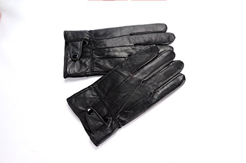 Anccion Men's Genuine Leather Warm Lined Driving Gloves, Motorcycle Gloves