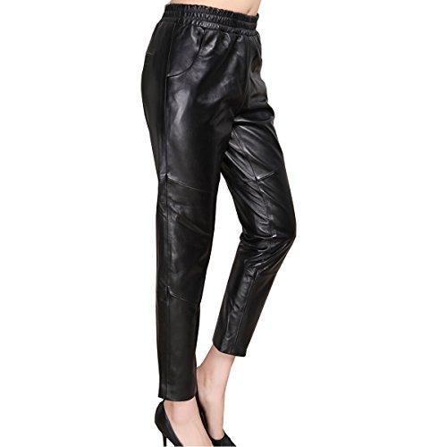 Genuine sheepskin Leather Trousersfor Women ,Genuien Leather Pants5537
