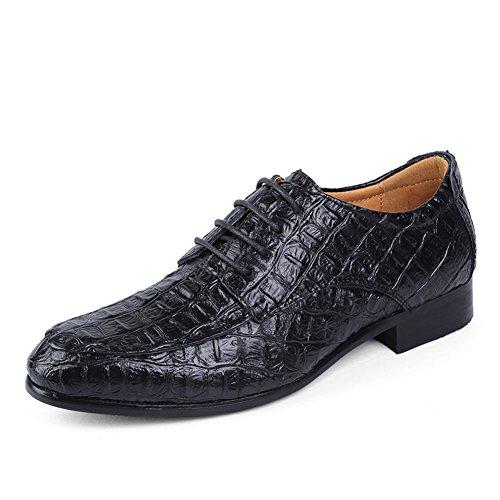 MVVT Men's Crocodile Oxford Shoes Lace Up Dress Leather shoes