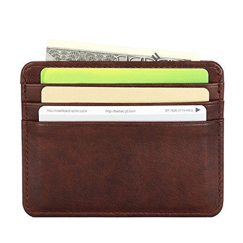 Men's Leather Wallet Credit Card Case Holder – Unique Credit Card Purse for Men
