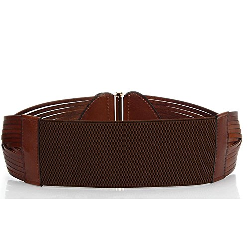 Sitong Women's high quality woven leather wide belt(3 colors)