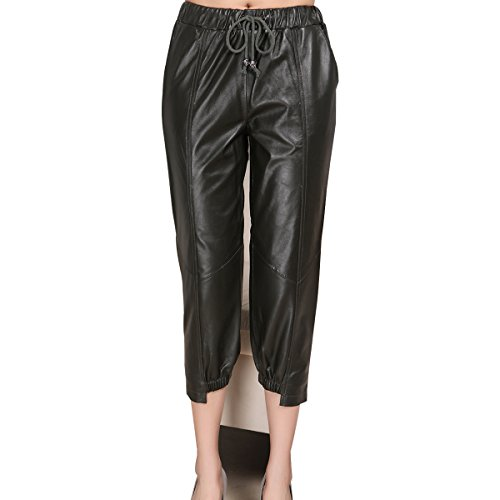 Women's Genuine Leather Trousers Women's Leather Pants Women's Fashion 5524