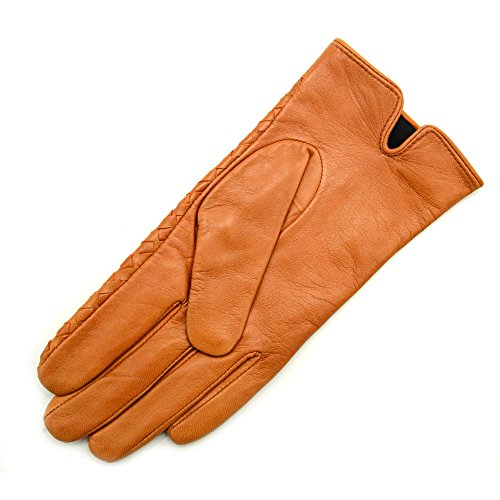 InlnDtor Nylon Lining Nappa Perforated Leather Gloves for Men Driving Working Gloves