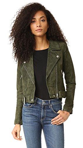 Blank Denim Women's Genuine Suede Moto Jacket
