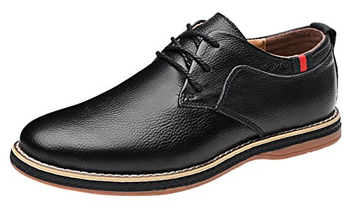 Mohem Darren Men's Premium Genuine Leather Lace-up Oxfords Shoes