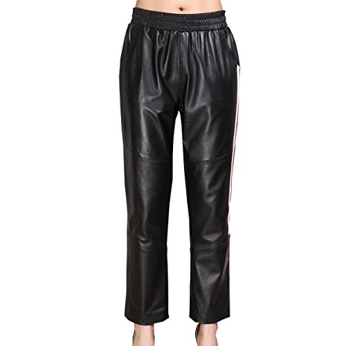 Genuine sheepskin Leather Trousers for Women ,Genuien Leather Pants5538