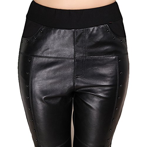 Genuine sheepskin Leather Sexy Lower Bottoms Trouser for Women ,Genuien Leather Pants5533