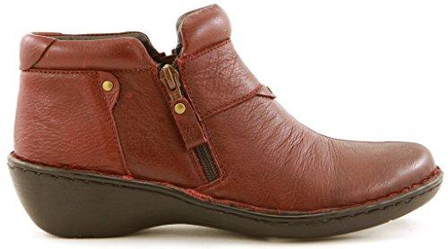 Comfortiya Women's Laura Leather Comfort Casual Low Heel Ankle Bootie