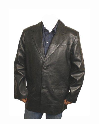 Bonus Men's Black Western Blazer Genuine Lamb Leather