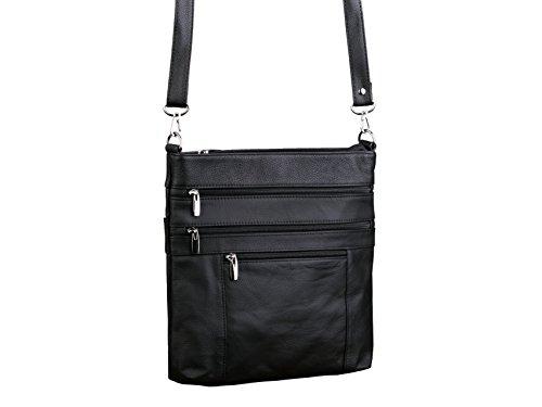 Dwellbee Medium Leather Crossbody Bag (Cowhide Leather)
