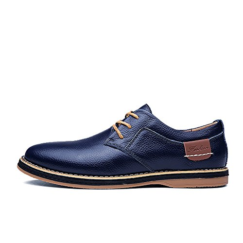 YZHYXS Men's Oxfords Shoes Lace Up Business Dress Genuine Full Grain Leather Shoes 6811