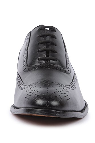 Liberty Handmade Leather Mens Classic Oxford Wingtip Lace up Dress Shoe