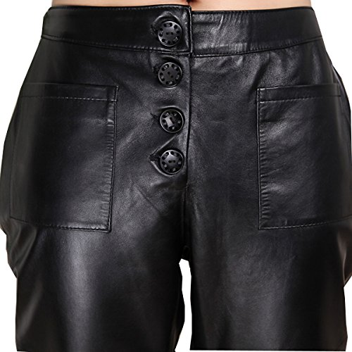 Genuine sheepskin Leather Trousers for Women ,Genuien Leather Pants5540