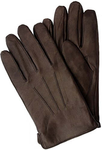 EEM touchscreen gloves BEN-IP for men made of genuine leather, smartphone glove