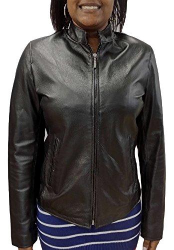 REED Women's Moto Leather Fashion Jacket – Genuine Leather Coat