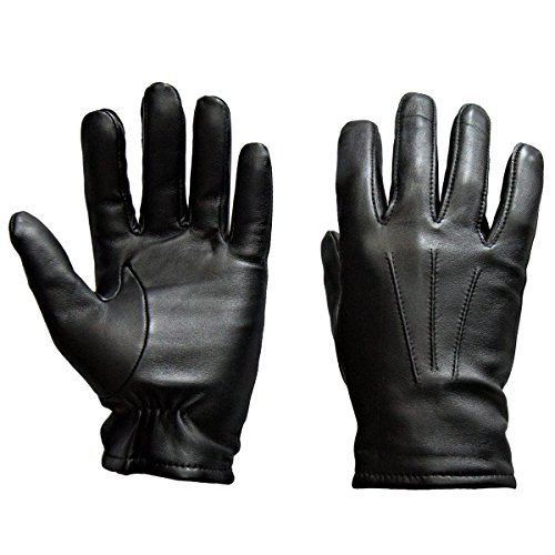 Sandory Black Men's Touch Technology 100% Cashmere lined Genuine leather Gloves