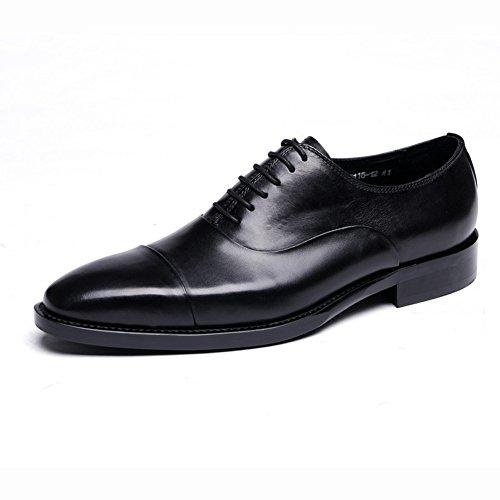 Santimon Men's Genuine Leather Derby Lace-up Dress Business Shoes