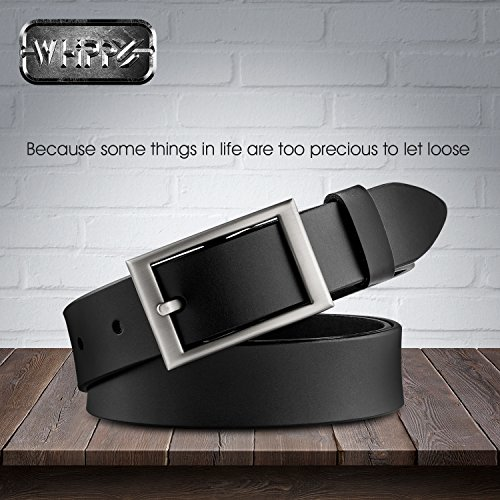 Women Leather Belt for Jean and Pants, Whippy 1.1″ Wide Ladies Designer Belt
