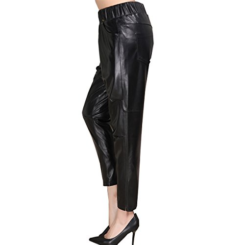 Genuine sheepskin Leather Trousers for Women ,Genuien Leather Pants5539