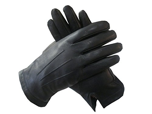 Isotoner Mens Leather Gloves,Nearly Invisible Smartouch Technology,With Box