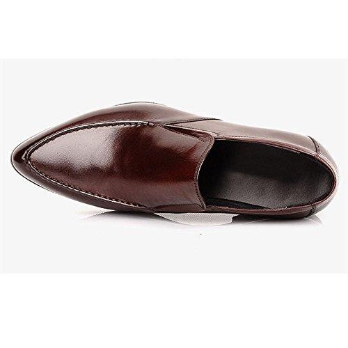 Fulinken Genuine Leather Men Slip on oxford Business Formal Shoes Dress Shoes