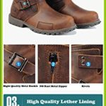 Z.SUO Comfortable Non Slip Genuine Leather Ankle Combat Boot For Mens