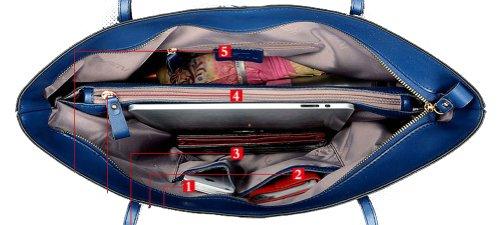 Ilishop Leather Handbag for Women Large Shoulder Bags Totes