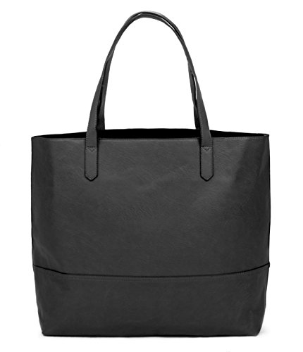 Overbrooke Large Vegan Leather Tote – Womens Slouchy Shoulder Bag with Open Top