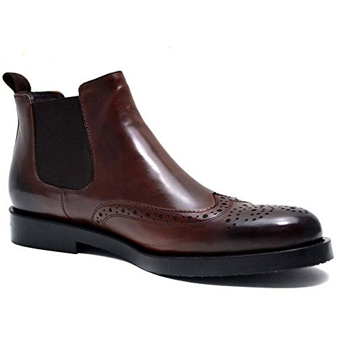 Fulinken Genuine Leather Mens Brogue Formal Dress Shoes Business Boots Wingtip Chelsea boots